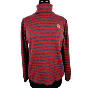 Lauren Ralph Lauren Red/Gray Stripped Turtle Neck